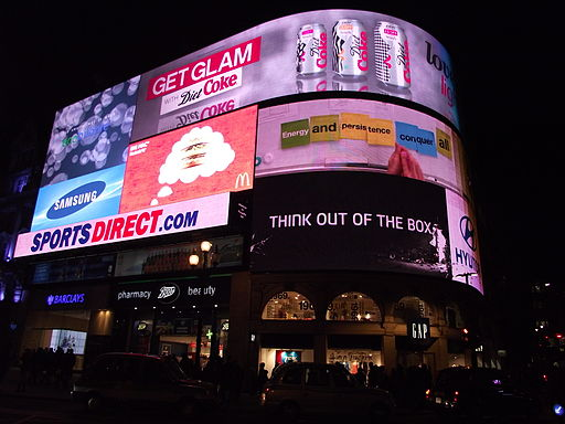Piccadilly Circus by night January 2012