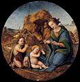 Piero di cosimo, madonna col bambino dormiente e san giovannino.jpg