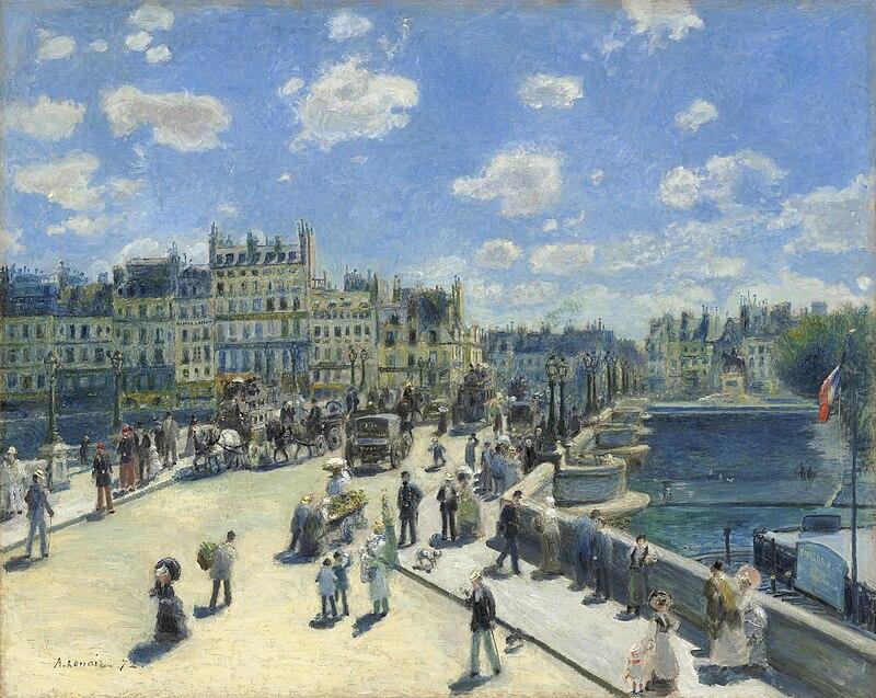 Sur le Pont-Neuf de Paris dans COURS d'EAU-RIVIERES de France 800px-Pierre-Auguste_Renoir_090