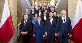 Cabinet of Beata Szydło - Image: Pierwszy dzień nowego rządu