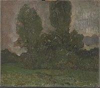Piet Mondriaan - Field with two tree silhouettes I - 0334278 - Kunstmuseum Den Haag.jpg