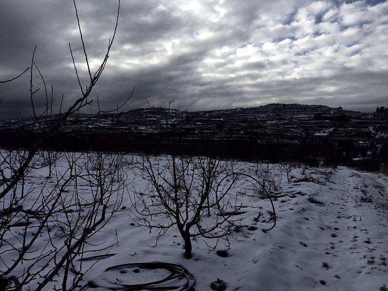 שלג בכפר מג'אר