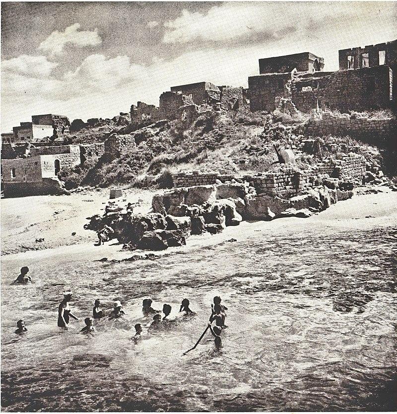 חוף אכזיב בשנות החמישים