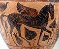 Pittore di micali, hydria etrusca con cavallo alato, dalla necropoli della cuccumella, 520-510 ac ca. 02.jpg
