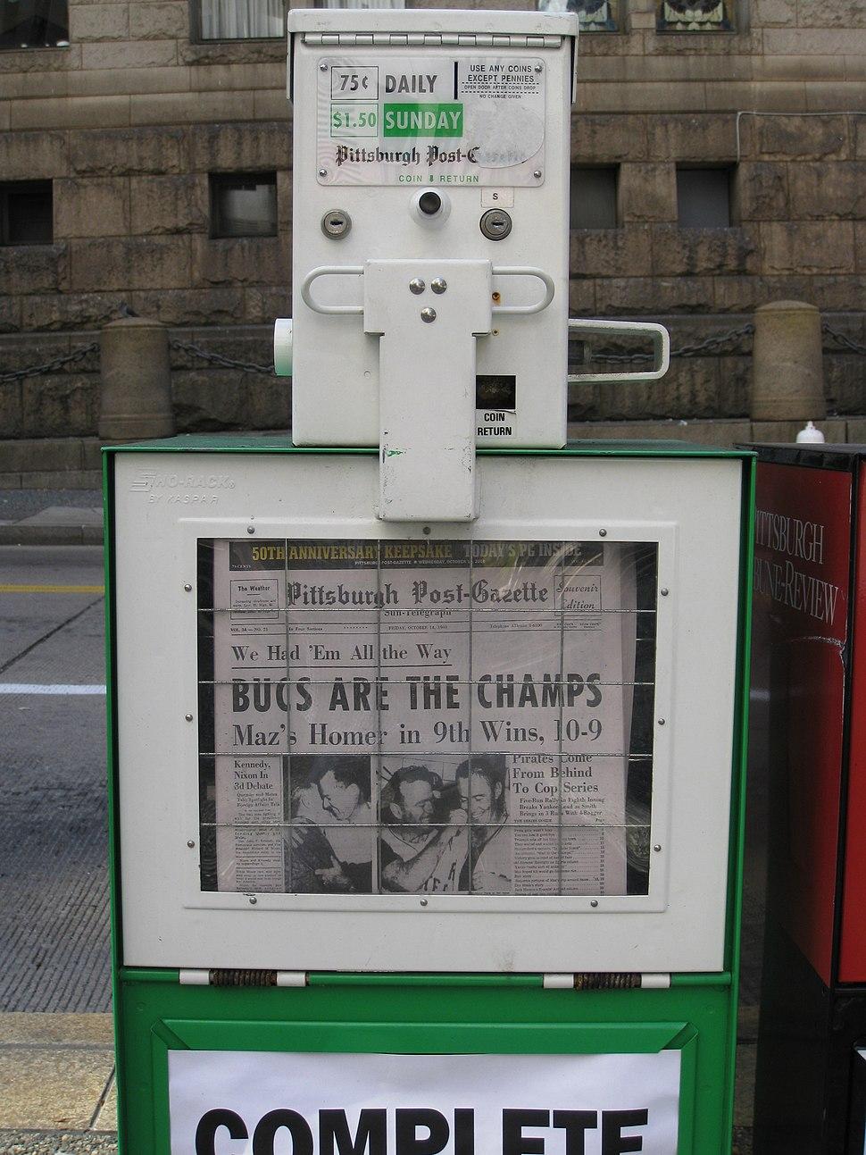 Pittsburgh Post Gazette 50th anniversary reprint 1960 World Series