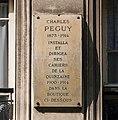 Plaque Péguy, 8 rue de la Sorbonne, Paris 5e.jpg