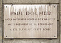 Plaque Paul Doumer, 63 rue de Clignancourt, Paris 18.jpg