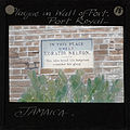Plaque in Wall of Fort, Port Royal, Jamaica, ca.1875-ca.1940 (imp-cswc-GB-237-CSWC47-LS11-015).jpg