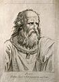 Plato. Etching by D. Cunego, 1783, after R. Mengs after Raph Wellcome V0004702.jpg