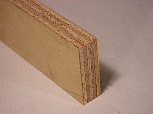 close up picture of plywood with a veneer coat...