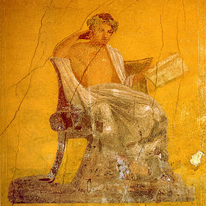 Casa del Menandro - The fresco of Menander from which the house takes its name