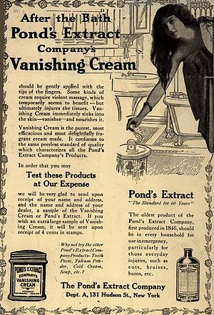Pond's - Pond's print advertisement for vanishing cream, 1910