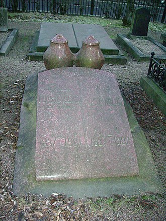 Pontus Fürstenberg - Pontus and Göthilda Fürstenbergs' graves in Gothenburg.