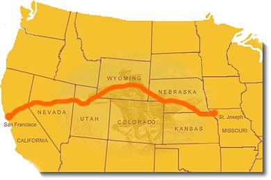 Map of Pony Express route Ponymap.jpg