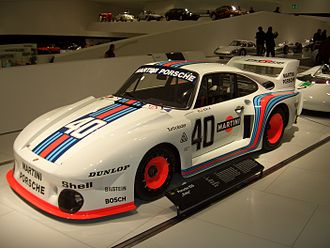 Porsche 935 - 1977 factory 935 body, here the small 1.4 litre turbo engine Baby