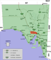 Port augusta location map in South Australia.PNG