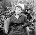 Portrait, woman, garden, summer, arm chair Fortepan 2415.jpg