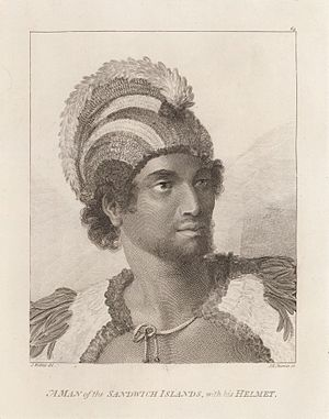 "Kalaimanokahoʻowaha - High Chief, Kalaimanokahoʻowaha, also known as Kanaʻina nui (""The conquering"")"