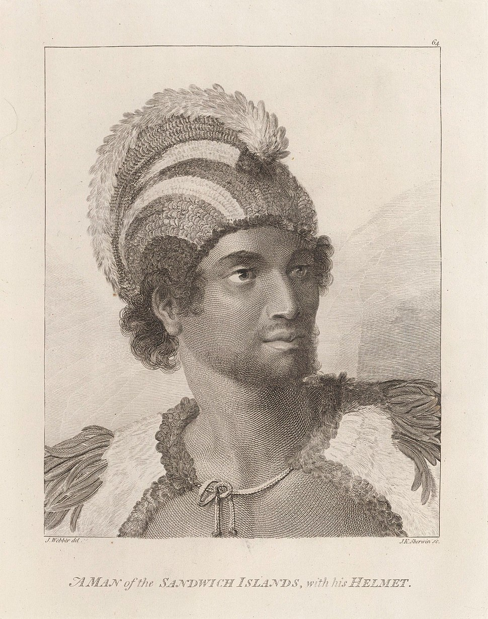 Portrait of Kaneena, a chief of the Sandwich Islands in the North Pacific