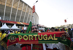 Portugal fans before Brazil & Portugal match at World Cup 2010-06-25 3.jpg