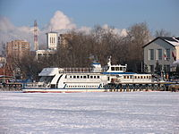 Poruchik Rzhevski in North River Port 31-jan-2012 02.JPG