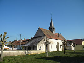 The church in Pouilly-sur-Saône