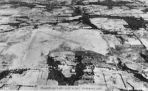 Pounds Army Air Field - North to south looking oblique aerial photo of Pounds AAF, Texas, 17 October 1943.