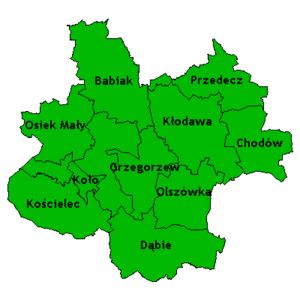 Koło County - Image: Powiat kolski gminy mapka