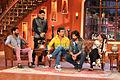 Prabhudeva, Sonu Sood, Shahid Kapoor, Sonakshi Sinha and Kapil Sharma on the sets of Comedy Nights with Kapil.jpg