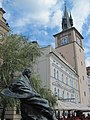 Praha, Bedřich Smetana a Staroměstské mlýny - panoramio.jpg