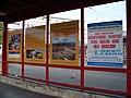 Praha, Na Knížecí, plakáty dopravců Pavel Čapek a Student Agency.jpg