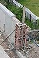 Praha, Zbraslav, výstavba protipovodňové zdi II.JPG