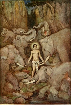 Prahlada - Prahlada overcoming the elephant