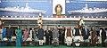 Pranab Mukherjee, the Vice President, Shri Mohd. Hamid Ansari, the Prime Minister, Shri Narendra Modi, the Union Home Minister, Shri Rajnath Singh and other dignitaries during the 'At Home' reception.jpg