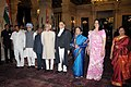 Pratibha Devisingh Patil, the Vice President, Shri Mohd. Hamid Ansari the Prime Minister, Dr. Manmohan Singh, the Union Minister for Law & Justice, Dr. M. Veerappa Moily and the outgoing Chief Justice of India (1).jpg