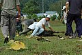 Preparing an animal for sacrifice, Qurban Kurbani Islamic festival.jpg
