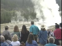 File:President Clinton at Old Faithful Geyser (1995).webm