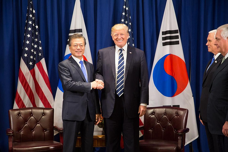 President Donald J. Trump and President Moon Jae-in of the Republic of Korea at the United Nations General Assembly (37425764982)