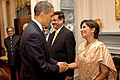 President Obama Shakes Hands With High-Ranking Indian Delegation Member.jpg