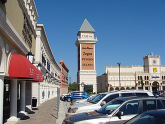 San Marcos, Texas - San Marcos Outlet Malls located to the east of Interstate 35