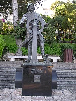Albert I, Prince of Monaco - A statue of Albert as a seafarer in Monaco-Ville's St Martin Gardens.
