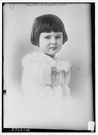 Giovanna of Italy - Princess Giovanna of Savoy as a child.