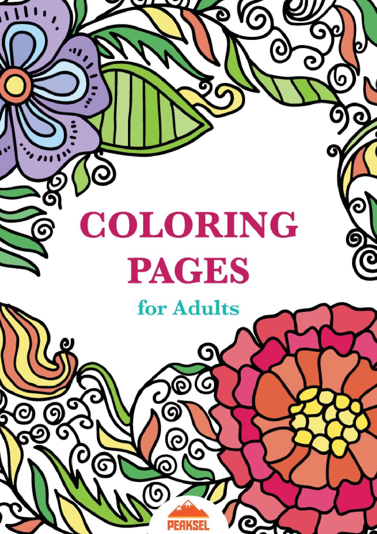 fileprintable coloring pages for adults free adult coloring bookpdf - Printable Coloring Book Pages