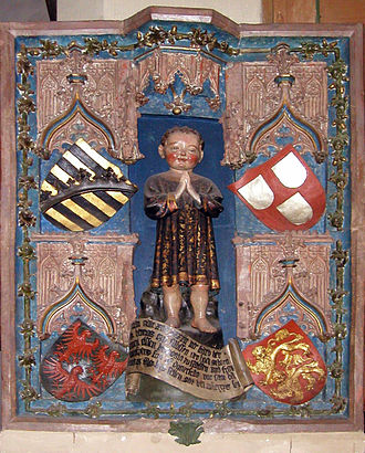 Eric V, Duke of Saxe-Lauenburg - Epitaph for Henry of Saxony, Angria and Westphalia in St. George Church of Weikersheim.