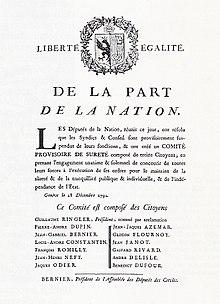 Proclamazione del 28 dicembre 1792