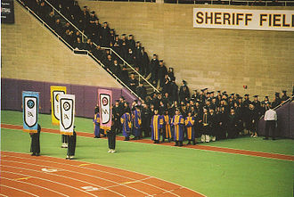 UNI-Dome - Professors marching in commencement ceremony, December 2005