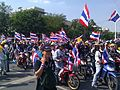 Protesters on motorcycles in Bangkok, 1 December 2013.jpg