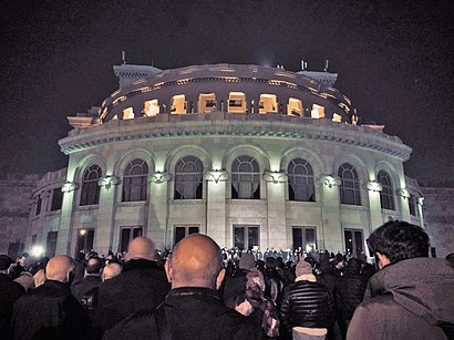 Protests in Yerevan against the 2020 ceasefire agreement in Nagorno-Karabakh.jpg