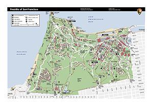 Presidio of San Francisco - Image: Prsf Presidio map