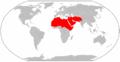Psammophis schokari range Map.png